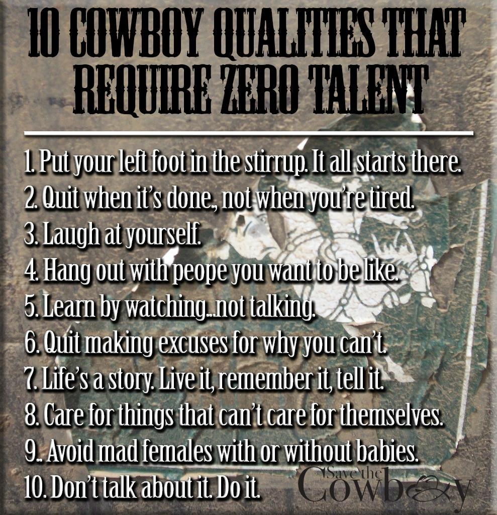 10 Exceptional Qualities of the Cowboy - Save the Cowboy